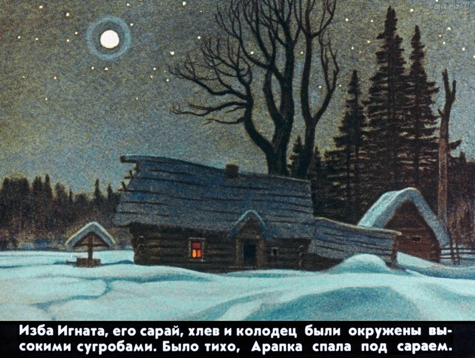 Диафильм - Белолобый (1988)