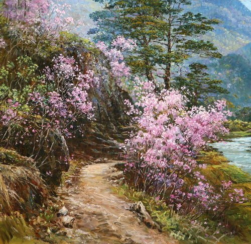 Корейская живопись Ли Гильнам - Lee Gilnam . КНДР