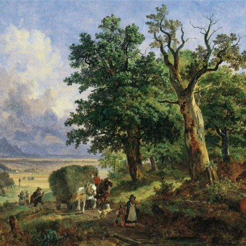 Художник Генрих Бюркель (Heinrich Bürkel) (German,1802-1869)