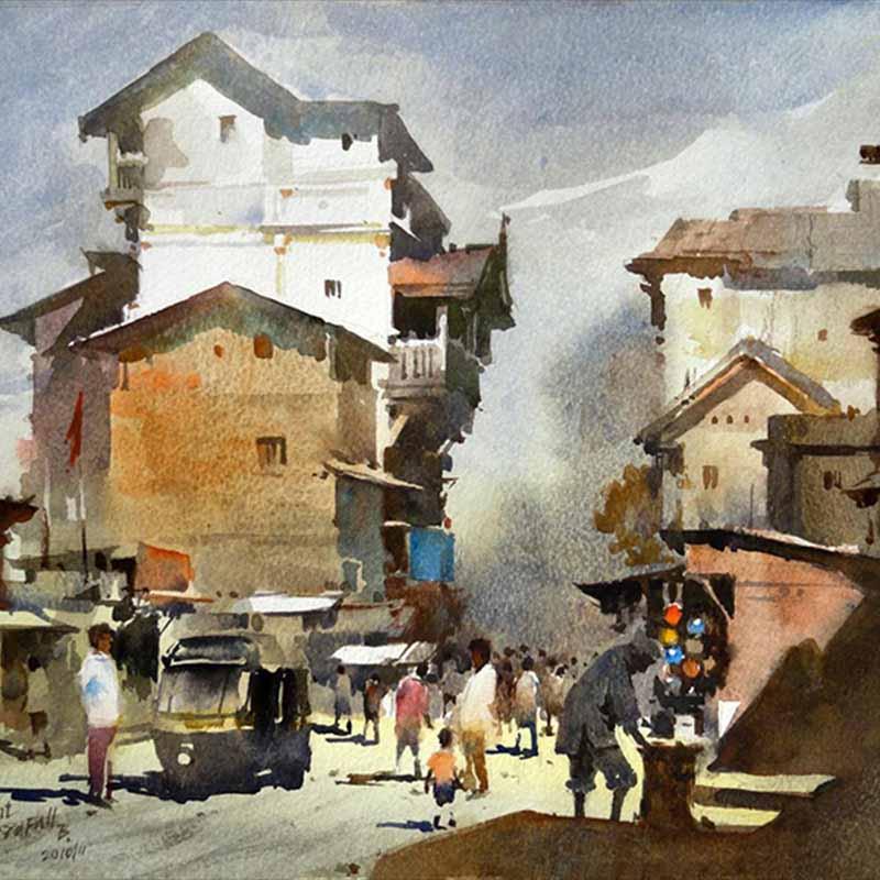 Индийский художник-акварелист Prafull Sawant