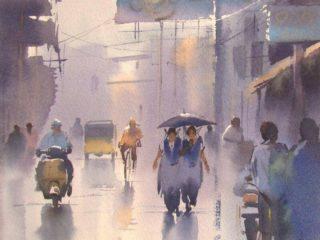 Ejoumale Djearamine - художник-акварелист из Индии