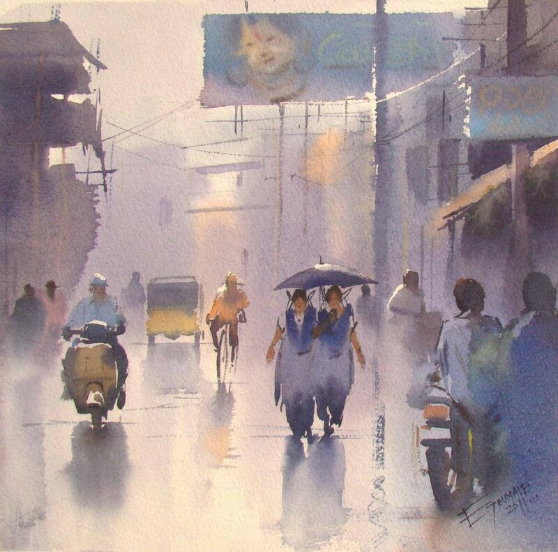 Ejoumale Djearamine - художник-акварелист из Индии 19