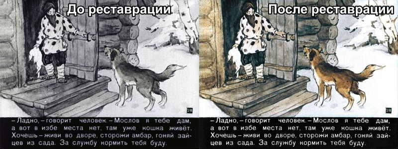 Диафильм - Как кошка с собакой дружить перестали (1959)