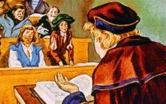 В средневековом университете (1976)