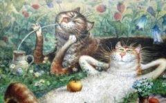 Коты художника Владимира Румянцева. Часть 2.