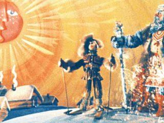 Дед Мороз и Костя-лыжник