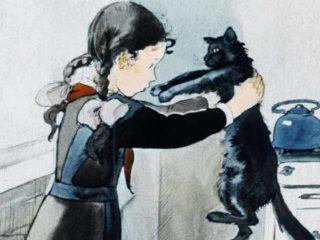 Девочка Оля и черная кошка (1960)