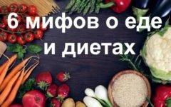 6 мифов о еде и диетах