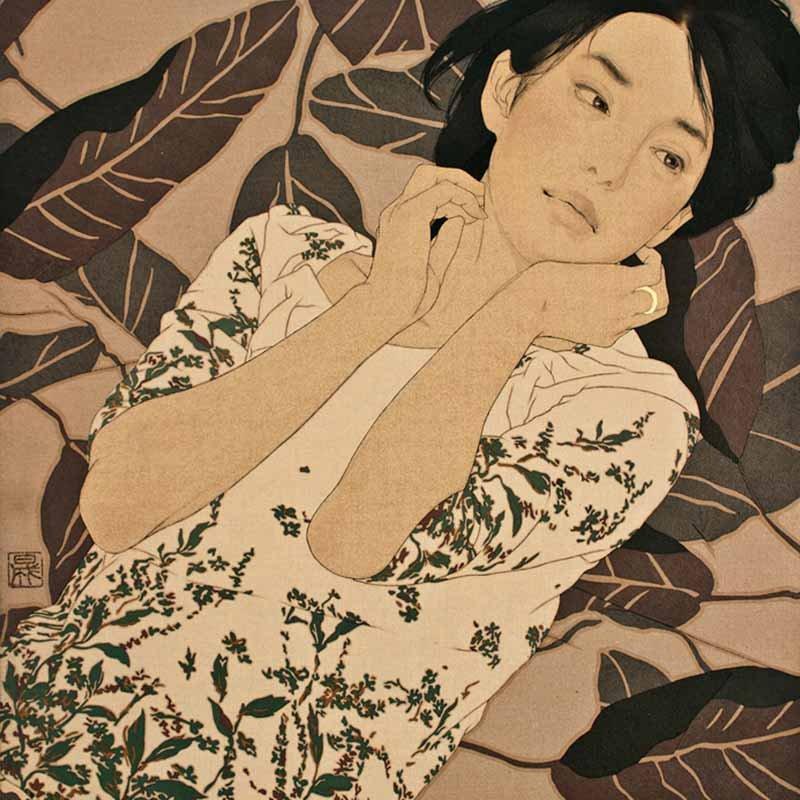 Японский художник Икенага Ясунари (Ikenaga Yasunari) 1