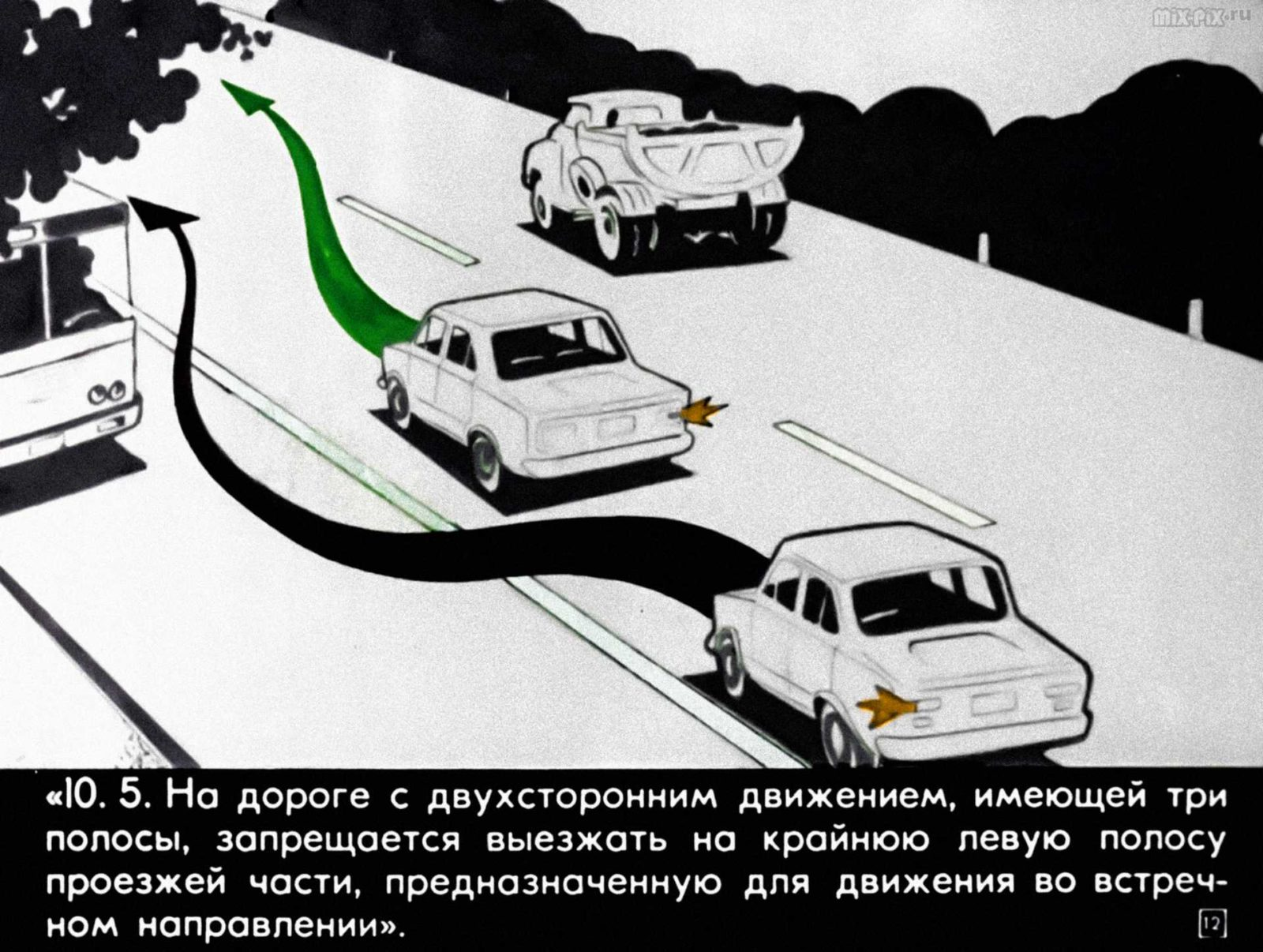 Правила дорожного движения. Расположение транспортных средств на проезжей части. Начало движения. Маневрирование (1983) 36